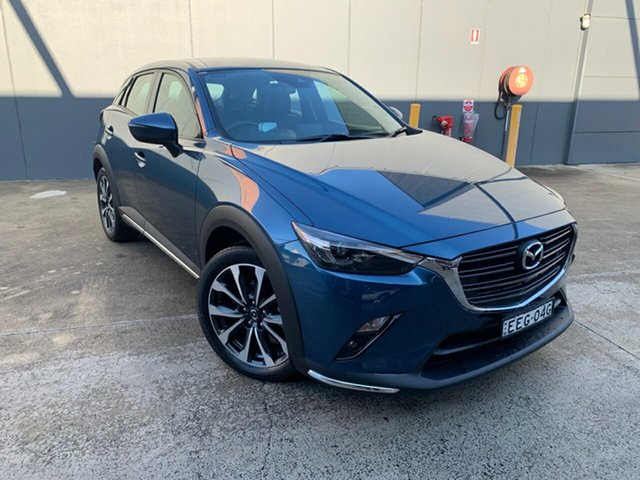 Demo Mazda CX-3 DK2W7A sTouring SKYACTIV-Drive FWD, 2019 Mazda CX-3 DK2W7A sTouring SKYACTIV-Drive FWD Eternal Blue 6 Speed Sports Automatic Wagon