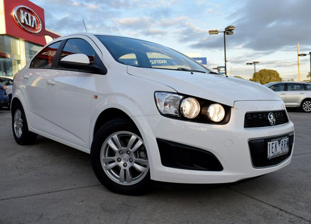 Used Holden Barina TM MY14 CD, 2014 Holden Barina TM MY14 CD White 6 Speed Automatic Sedan