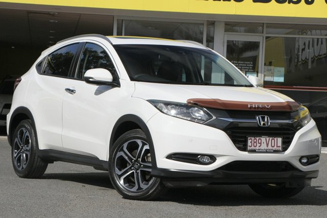 Used Honda HR-V MY15 VTi-L, 2015 Honda HR-V MY15 VTi-L Platinum White 1 Speed Constant Variable Hatchback