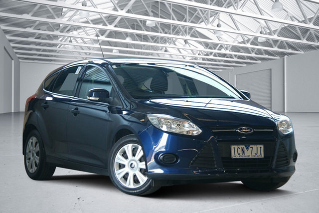 Used Ford Focus LW Ambiente, 2012 Ford Focus LW Ambiente Blue 6 Speed Automatic Hatchback