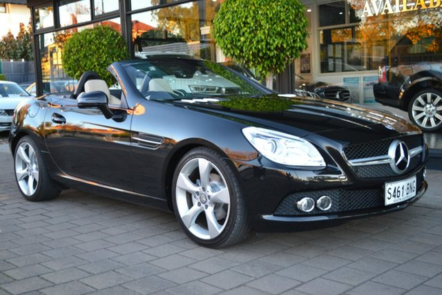 Used Mercedes-Benz SLK-Class R172 SLK200 BlueEFFICIENCY 7G-Tronic +, 2011 Mercedes-Benz SLK-Class R172 SLK200 BlueEFFICIENCY 7G-Tronic + Black Metallic 7 Speed