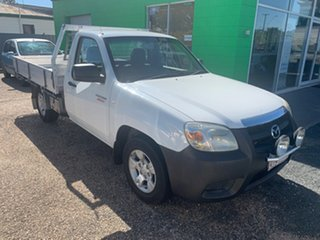 2009 Mazda BT-50 DX White Manual Cab Chassis.