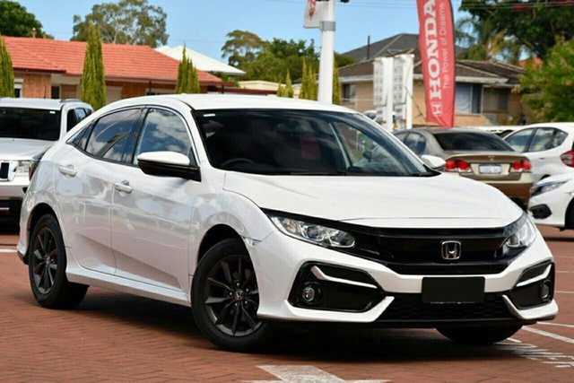 New Honda Civic 10th Gen MY20 VTi-S North Lakes, 2020 Honda Civic 10th Gen MY20 VTi-S Platinum White 1 Speed Constant Variable Hatchback