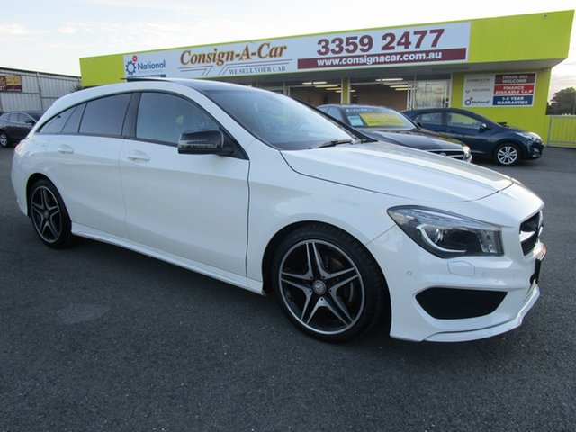 Used Mercedes-Benz CLA-Class X117 806MY CLA200 Shooting Brake DCT, 2015 Mercedes-Benz CLA-Class X117 806MY CLA200 Shooting Brake DCT White 7 Speed
