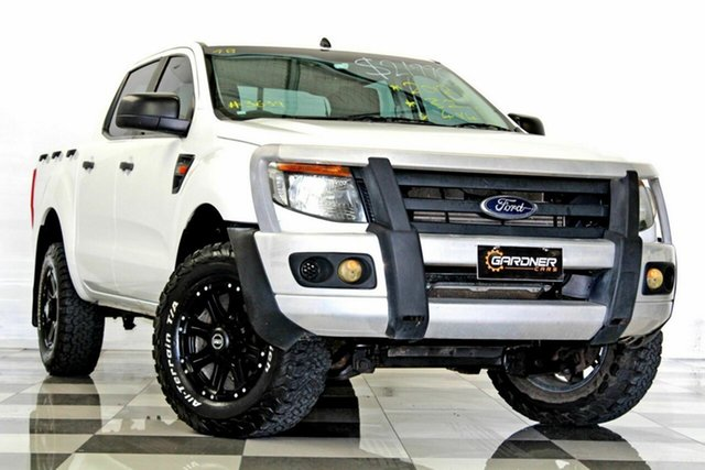Used Ford Ranger PX XL 3.2 (4x4), 2012 Ford Ranger PX XL 3.2 (4x4) White 6 Speed Manual Dual Cab Chassis