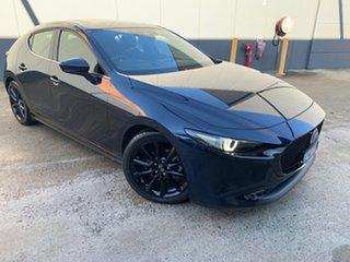 2019 Mazda 3 BP2HLA G25 SKYACTIV-Drive Astina Deep Crystal Blue 6 Speed Sports Automatic Hatchback.