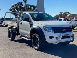 2012 Ford Ranger XL White Manual Cab Chassis - Single Cab.