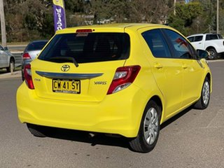 2014 Toyota Yaris NCP130R MY15 Ascent Yellow 4 Speed Automatic Hatchback
