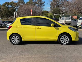 2014 Toyota Yaris NCP130R MY15 Ascent Yellow 4 Speed Automatic Hatchback.