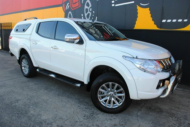 Used Mitsubishi Triton MQ MY16 Exceed Double Cab, 2015 Mitsubishi Triton MQ MY16 Exceed Double Cab Polar White 5 Speed Sports Automatic Utility