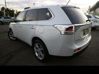 2012 Mitsubishi Outlander ZJ Aspire (4x4) White Continuous Variable Wagon.