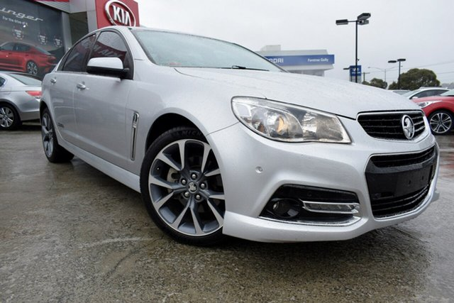 Used Holden Commodore VF MY14 SS V, 2014 Holden Commodore VF MY14 SS V Silver 6 Speed Manual Sedan