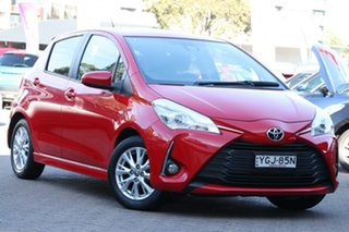 2017 Toyota Yaris NCP131R ZR Red 4 Speed Automatic Hatchback