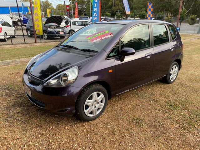 Used Honda Jazz GD GLi Clontarf, 2007 Honda Jazz GD GLi Purple 5 Speed Manual Hatchback