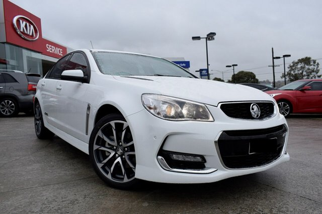 Used Holden Commodore VF II MY17 SS, 2017 Holden Commodore VF II MY17 SS Heron White 6 Speed Manual Sedan