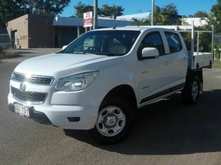 2014 Holden Colorado White 5 Speed Manual Dual Cab.