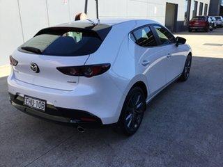 2019 Mazda 3 BP2H76 G20 SKYACTIV-MT Evolve Snowflake White 6 Speed Manual Hatchback.