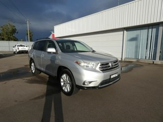 2012 Toyota Kluger GSU45R MY12 Altitude AWD Silver 5 Speed Sports Automatic Wagon.