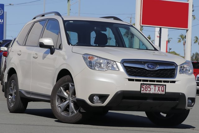 Used Subaru Forester S4 MY14 2.5i Lineartronic AWD Luxury, 2014 Subaru Forester S4 MY14 2.5i Lineartronic AWD Luxury White 6 Speed Constant Variable Wagon