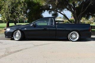 2004 Ford Falcon BA XR6 Turbo Ute Super Cab Black 5 Speed Manual Utility.