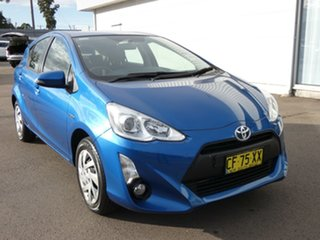 2015 Toyota Prius c NHP10R E-CVT Tidal Blue 1 Speed Constant Variable Hatchback Hybrid.