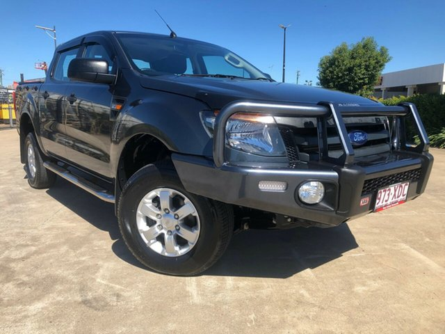 Used Ford Ranger PX XLS Double Cab, 2014 Ford Ranger PX XLS Double Cab Grey 6 Speed Sports Automatic Utility