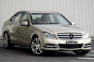 2012 Mercedes-Benz C-Class W204 MY12 C250 BlueEFFICIENCY 7G-Tronic + Avantgarde Silver 7 Speed.