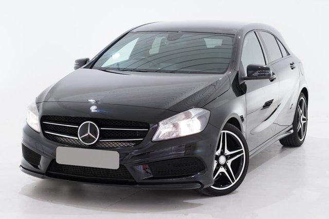 Used Mercedes-Benz A-Class W176 A200 D-CT, 2013 Mercedes-Benz A-Class W176 A200 D-CT Black 7 Speed Sports Automatic Dual Clutch Hatchback