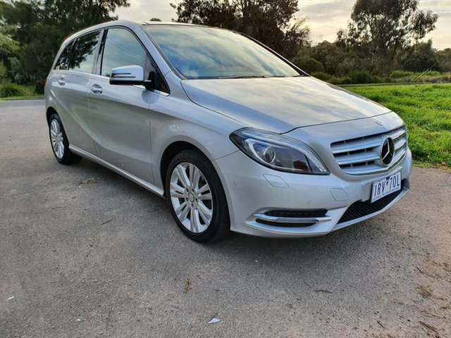 Used Mercedes-Benz B-Class W246 B200, 2013 Mercedes-Benz B-Class W246 B200 Silver Sports Automatic Dual Clutch Hatchback