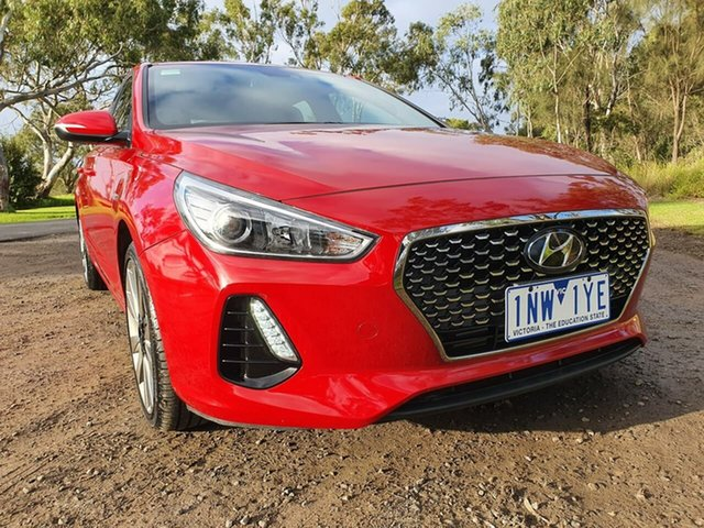 Used Hyundai i30 PD SR, 2018 Hyundai i30 PD SR Red Sports Automatic Dual Clutch Hatchback