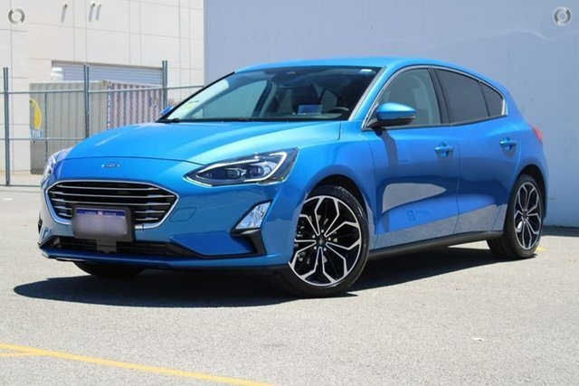 Used Ford Focus SA 2019MY Titanium Midland, 2018 Ford Focus SA 2019MY Titanium Blue 8 Speed Automatic Hatchback