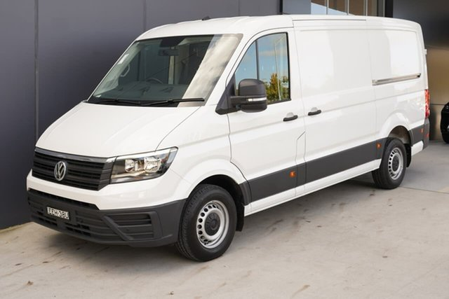 Used Volkswagen Crafter SY1 MY19 35 MWB FWD TDI410, 2019 Volkswagen Crafter SY1 MY19 35 MWB FWD TDI410 White 8 Speed Automatic Van