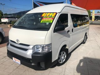 2016 Toyota HiAce KDH223R Commuter High Roof Super LWB White 4 Speed Automatic Bus.