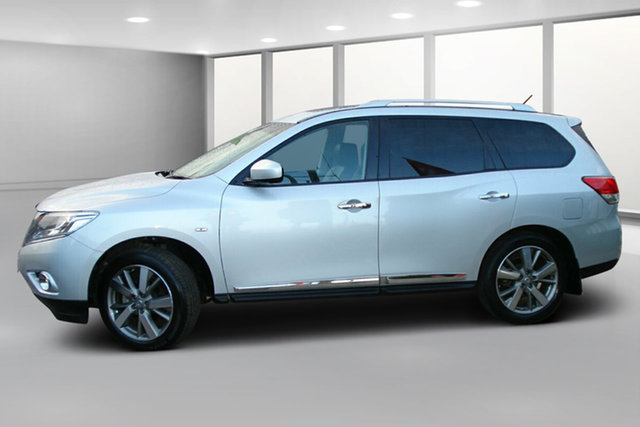Used Nissan Pathfinder R52 MY15 Ti X-tronic 4WD, 2016 Nissan Pathfinder R52 MY15 Ti X-tronic 4WD Silver Mica 1 Speed Constant Variable Wagon