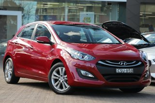 2014 Hyundai i30 GD MY14 Trophy Red 6 Speed Manual Hatchback.
