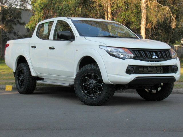 Used Mitsubishi Triton MQ MY16 GLX Double Cab, 2016 Mitsubishi Triton MQ MY16 GLX Double Cab White 5 Speed Sports Automatic Utility