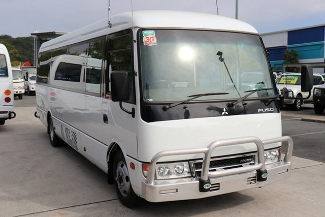 Used Mitsubishi Fuso Rosa BE64D Deluxe, 2016 Mitsubishi Fuso Rosa BE64D Deluxe White Automatic Midi Coach
