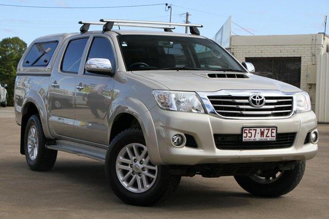 Used Toyota Hilux KUN26R MY14 SR5 Double Cab, 2013 Toyota Hilux KUN26R MY14 SR5 Double Cab Beige 5 Speed Manual Utility