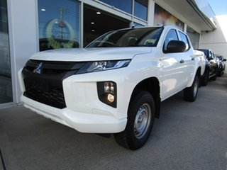 2019 Mitsubishi Triton MR MY19 GLX Double Cab White 6 Speed Sports Automatic Utility.