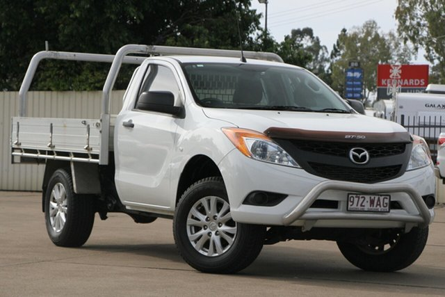 Used Mazda BT-50 UP0YD1 XT 4x2 Hi-Rider, 2015 Mazda BT-50 UP0YD1 XT 4x2 Hi-Rider White 6 Speed Sports Automatic Cab Chassis