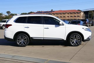 2016 Mitsubishi Outlander ZK MY17 Exceed (4x4) White Continuous Variable Wagon
