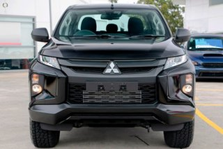2019 Mitsubishi Triton MR MY19 GLX+ Double Cab Black 6 Speed Sports Automatic Utility.