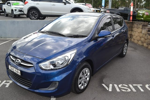 Used Hyundai Accent RB3 MY16 Active, 2015 Hyundai Accent RB3 MY16 Active Blue 6 Speed Constant Variable Sedan