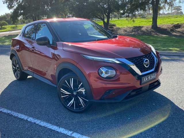 Demo Nissan Juke F16 Ti DCT 2WD Morphett Vale, 2020 Nissan Juke F16 Ti DCT 2WD Fuji Sunset Red 7 Speed Sports Automatic Dual Clutch Hatchback