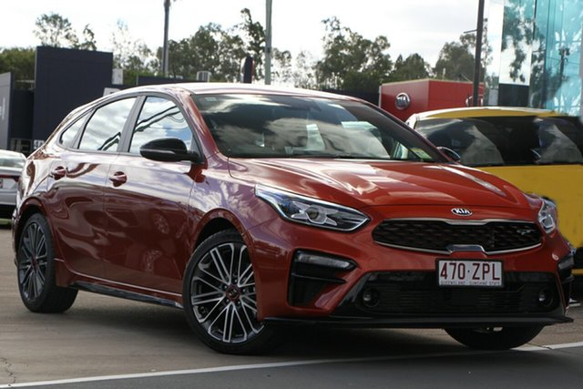 Demo Kia Cerato BD MY20 GT DCT, 2020 Kia Cerato BD MY20 GT DCT Sunset Orange 7 Speed Sports Automatic Dual Clutch Hatchback