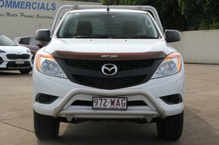 2015 Mazda BT-50 UP0YD1 XT 4x2 Hi-Rider White 6 Speed Sports Automatic Cab Chassis