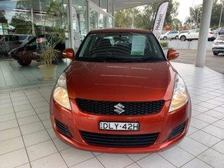 2013 Suzuki Swift FZ GL Red 4 Speed Automatic Hatchback.