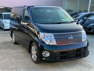 2009 Nissan Elgrand E51 Highway Star Black Automatic Wagon.
