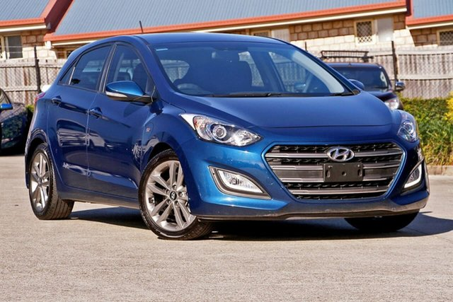 Used Hyundai i30 GD3 Series II MY16 SR, 2015 Hyundai i30 GD3 Series II MY16 SR Blue 6 Speed Sports Automatic Hatchback