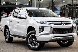 2019 Mitsubishi Triton MR MY19 GLS Double Cab White 6 Speed Sports Automatic Utility.